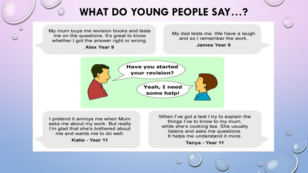 What do Young People say…
