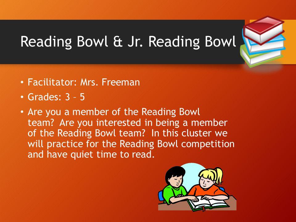 Reading Bowl & Jr. Reading Bowl