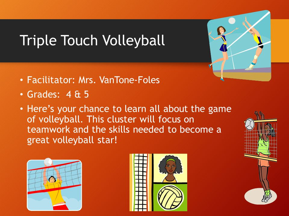 Triple Touch Volleyball