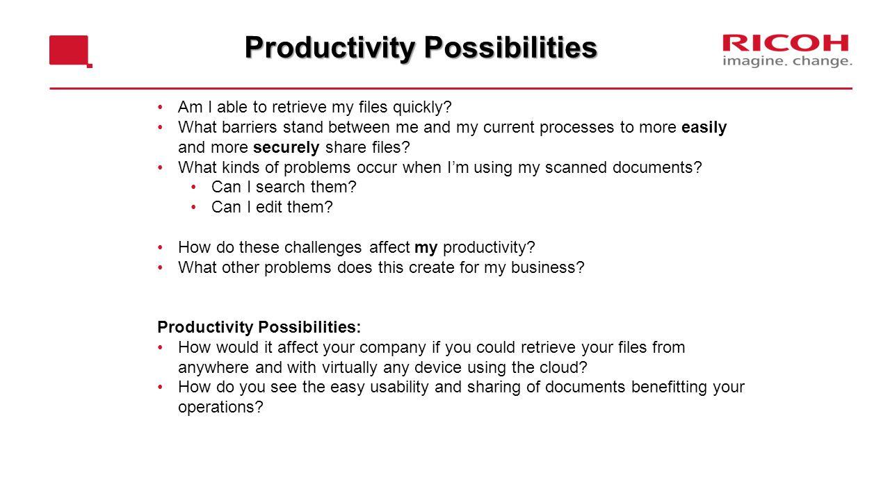 Productivity Possibilities