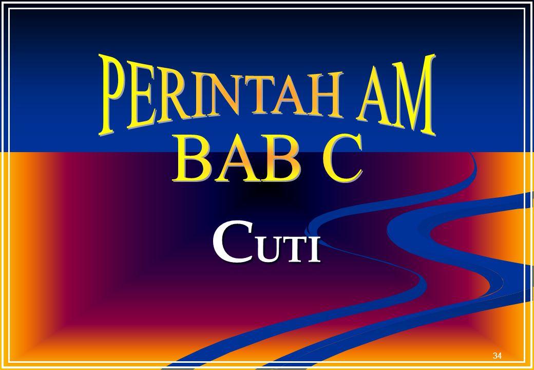 PERINTAH AM BAB C CUTI