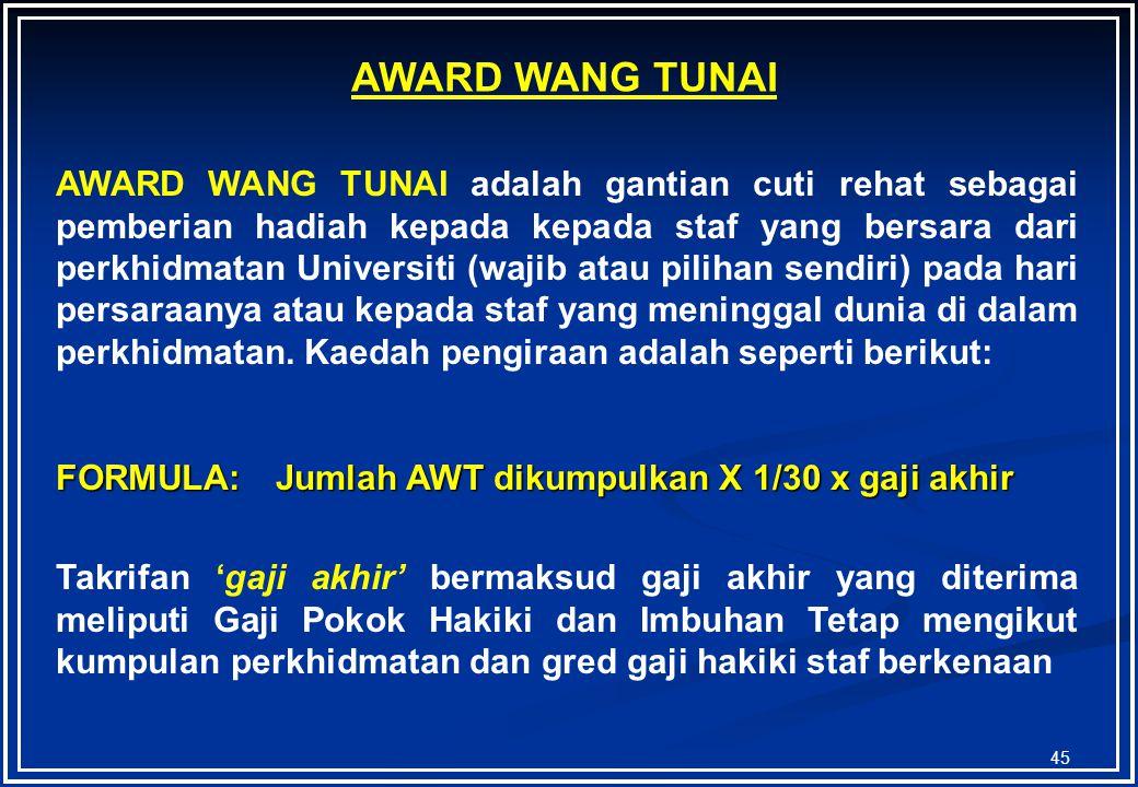 AWARD WANG TUNAI