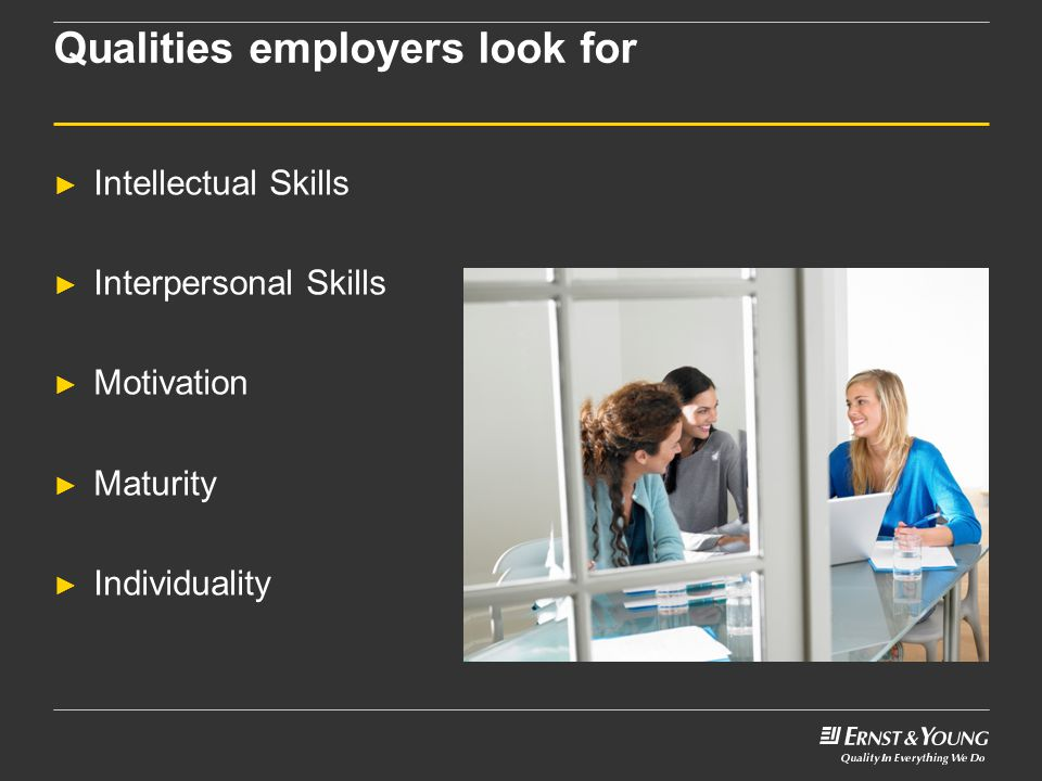 Qualities employers look for