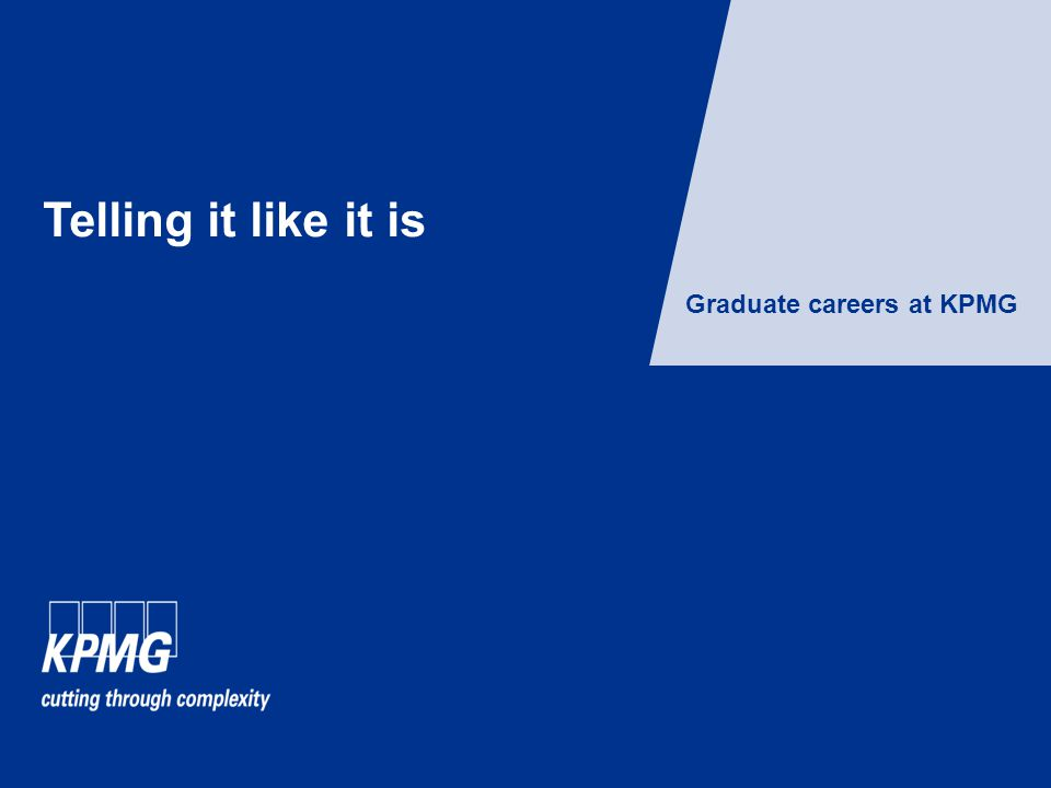 Graduate careers at KPMG