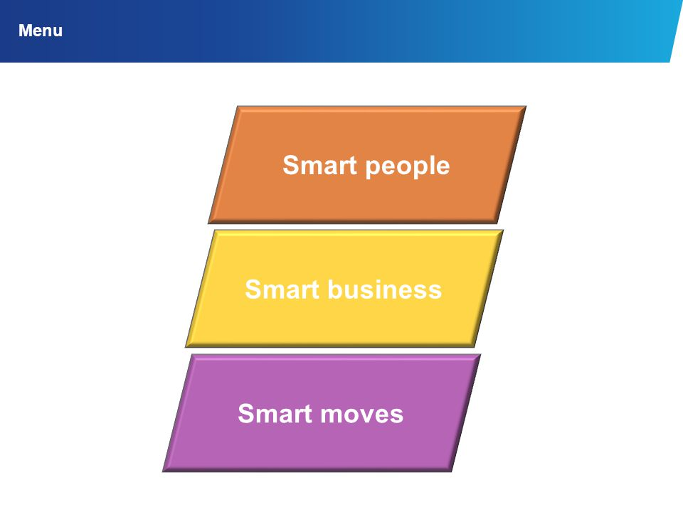 Smart people Smart business Smart moves