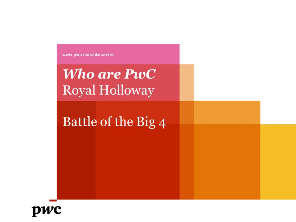 Who are PwC Royal Holloway Battle of the Big 4