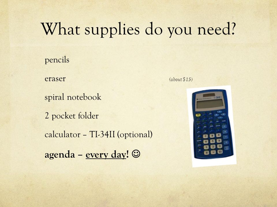 What supplies do you need