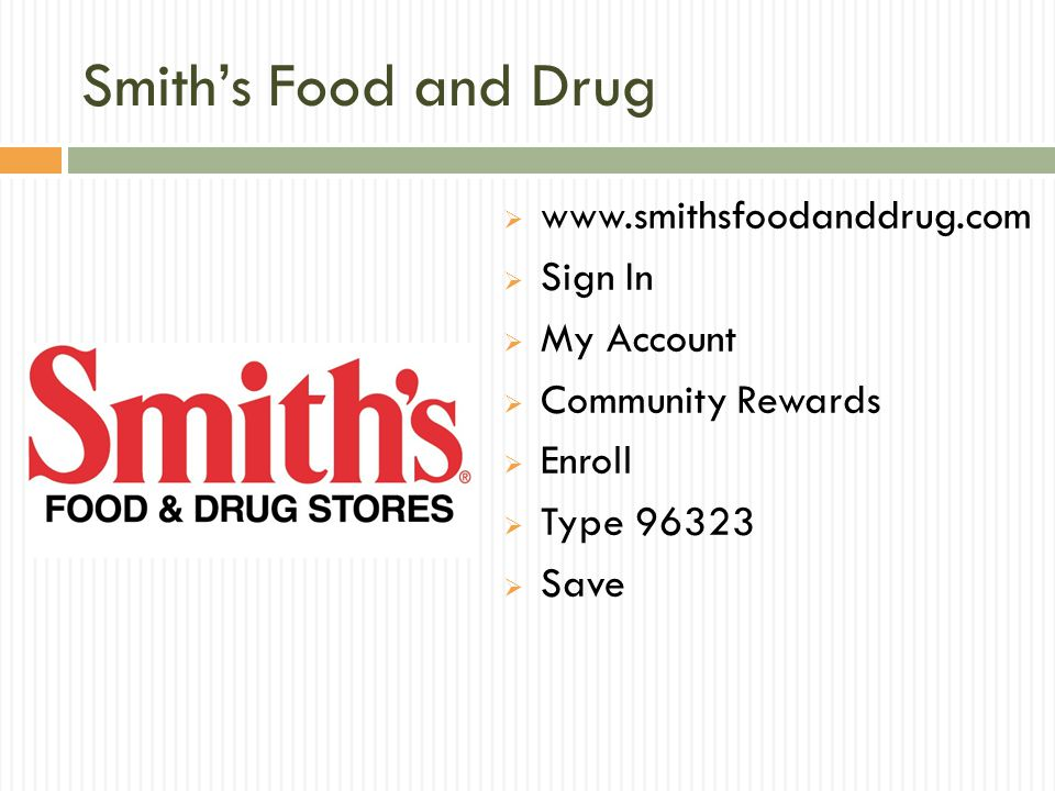 Smith's Food and Drug www.smithsfoodanddrug.com Sign In My Account