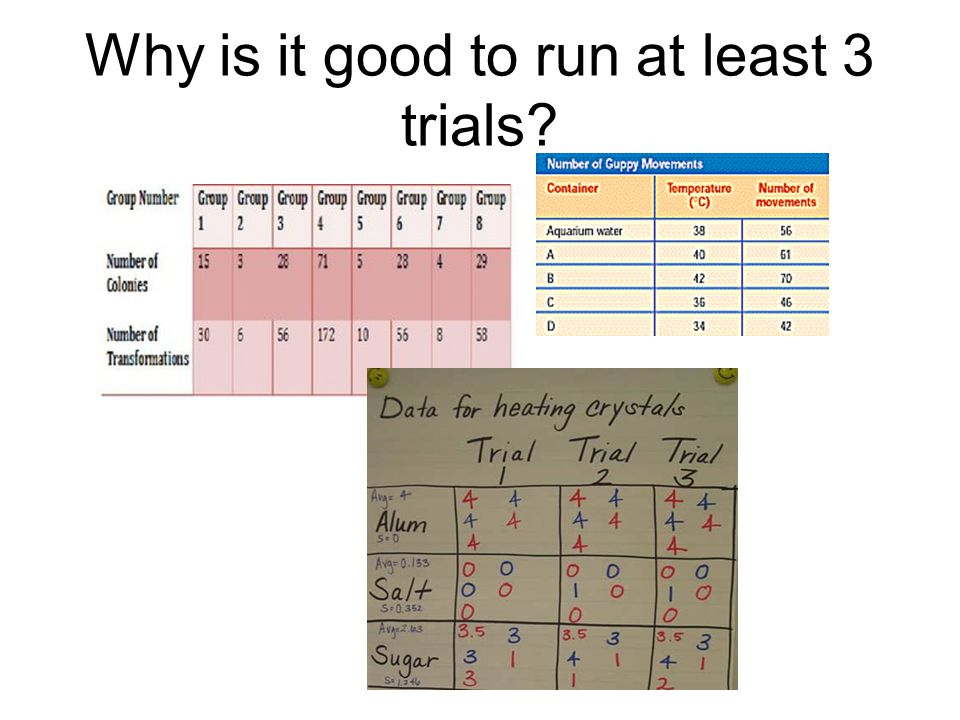Why is it good to run at least 3 trials