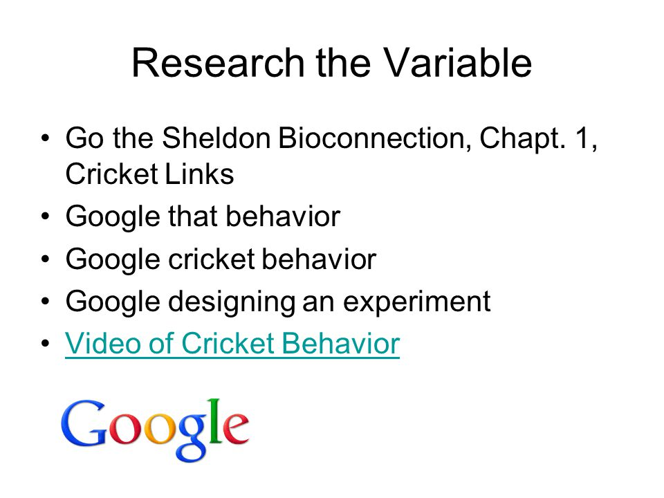 Research the Variable Go the Sheldon Bioconnection, Chapt. 1, Cricket Links. Google that behavior.