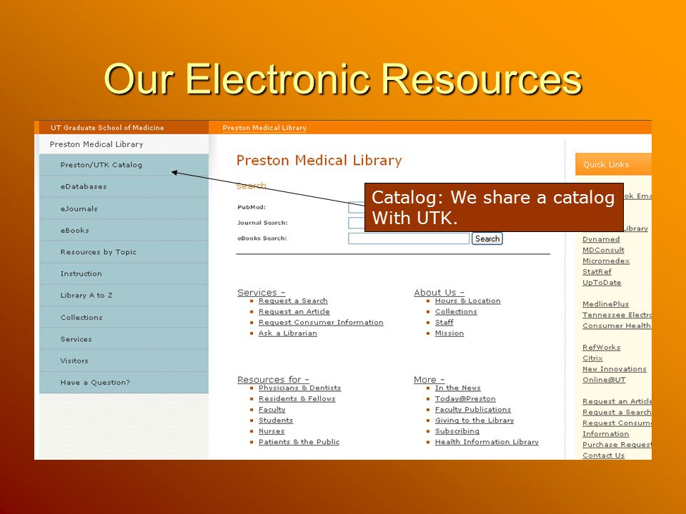 Our Electronic Resources