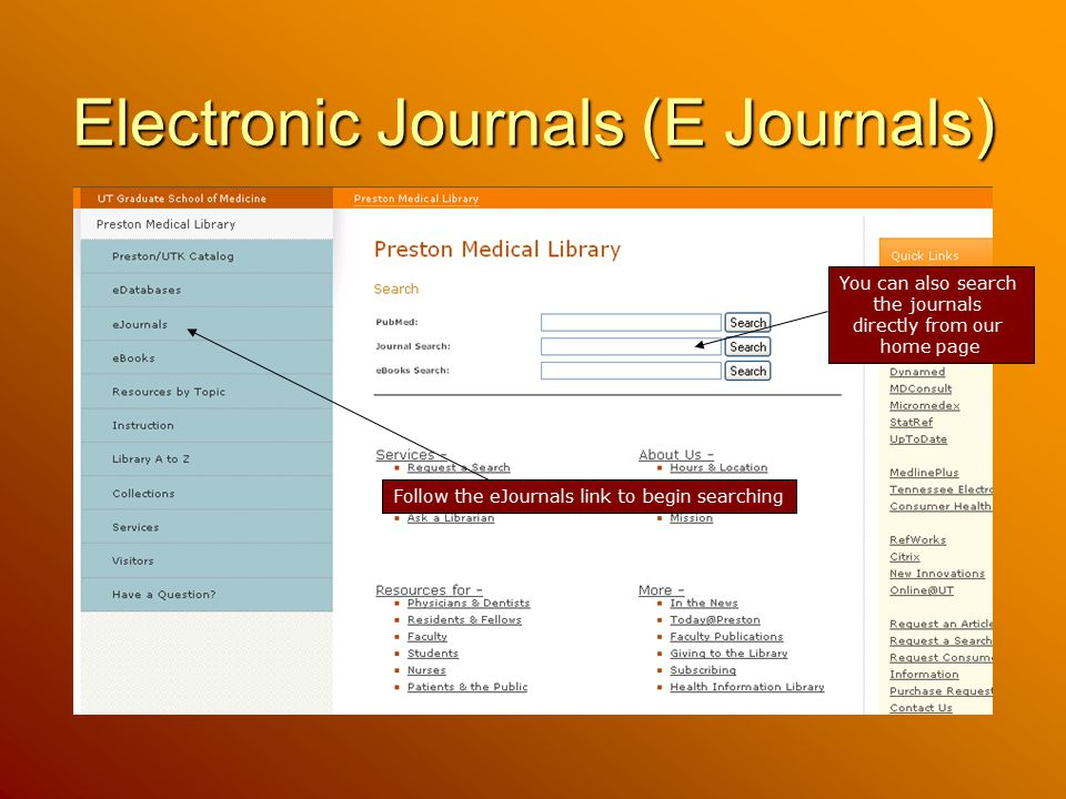 Electronic Journals (E Journals)