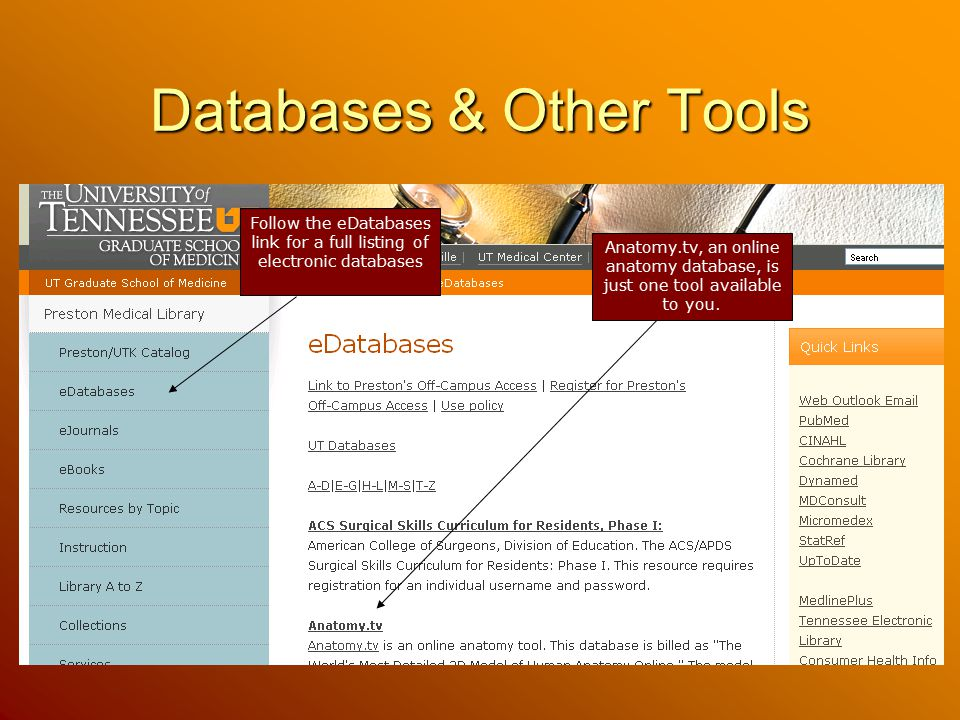 Databases & Other Tools
