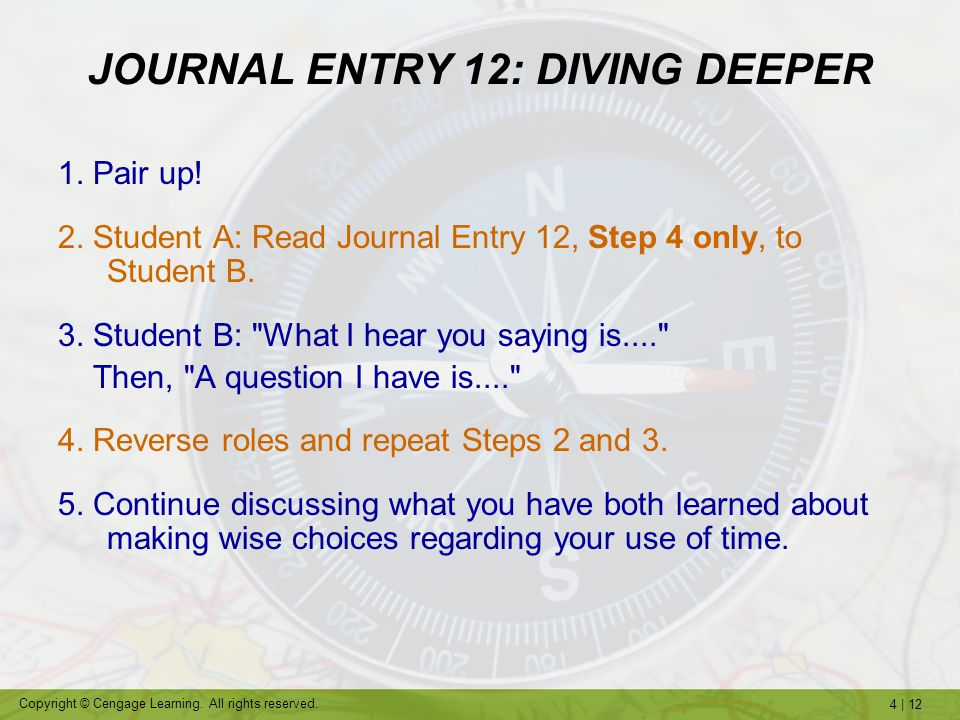 JOURNAL ENTRY 12: DIVING DEEPER