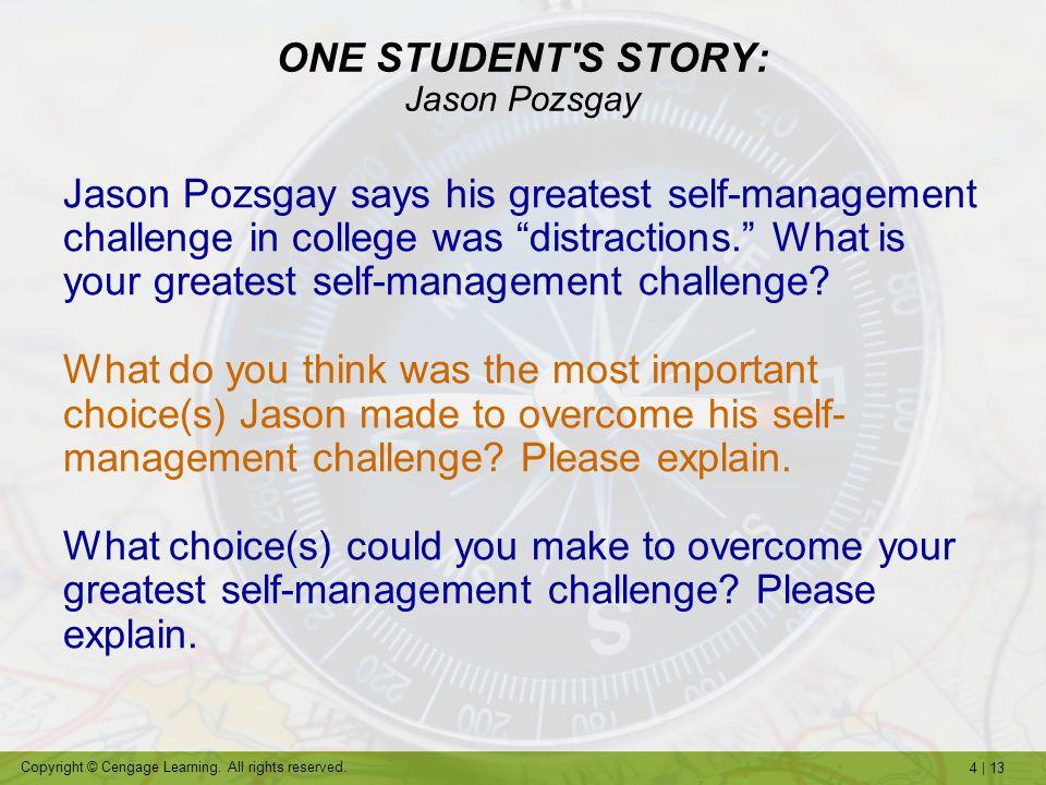 ONE STUDENT S STORY: Jason Pozsgay