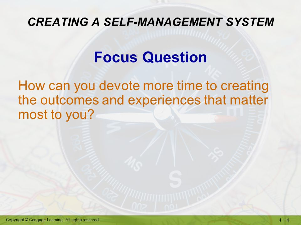 CREATING A SELF-MANAGEMENT SYSTEM