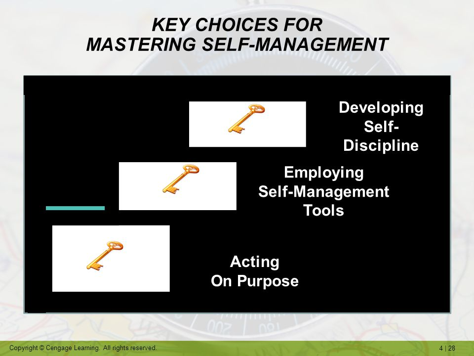 KEY CHOICES FOR MASTERING SELF-MANAGEMENT