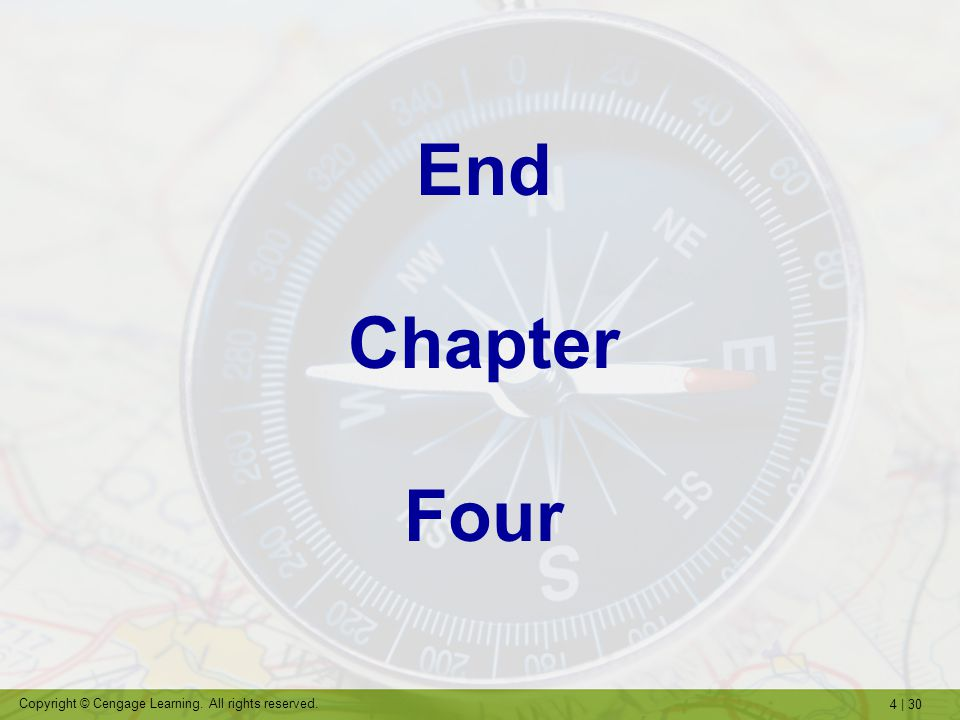 End Chapter Four