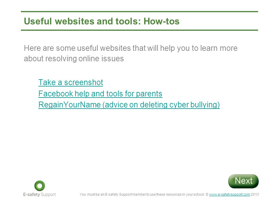 Useful websites and tools: How-tos