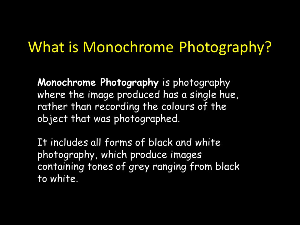 What is Monochrome Photography