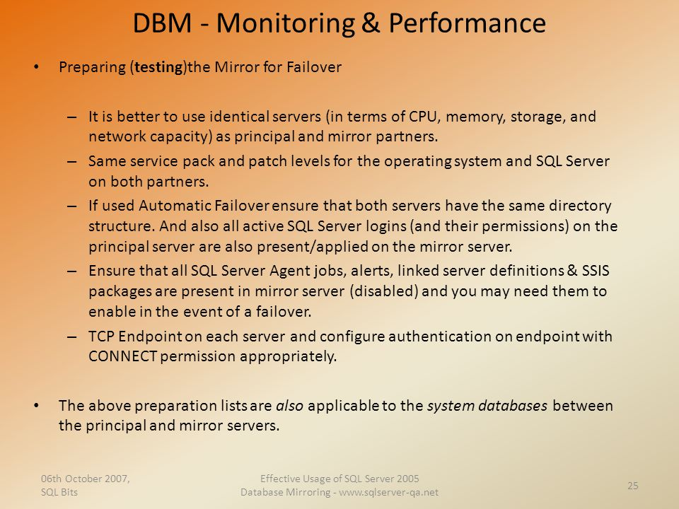 DBM - Monitoring & Performance