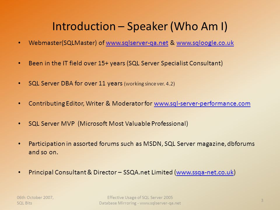 Introduction – Speaker (Who Am I)