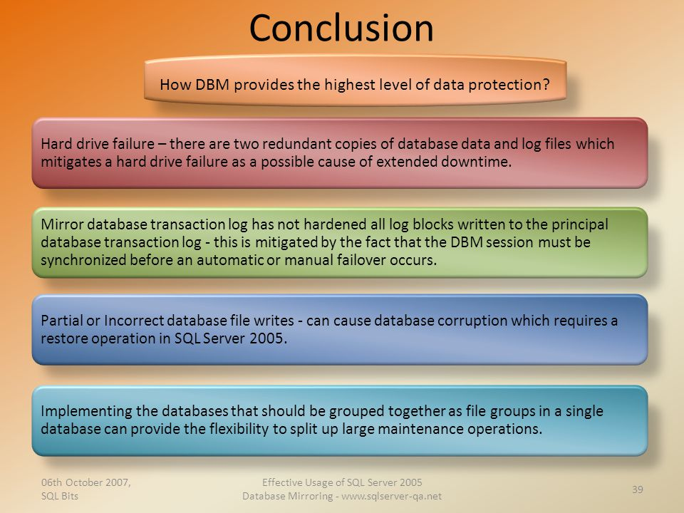 How DBM provides the highest level of data protection