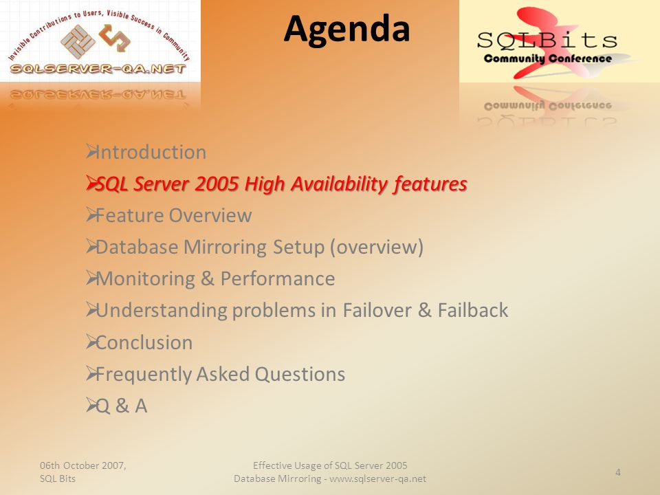 Effective Usage of SQL Server 2005 Database Mirroring
