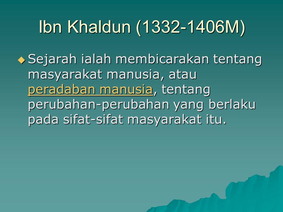 Ibn Khaldun (1332-1406M)