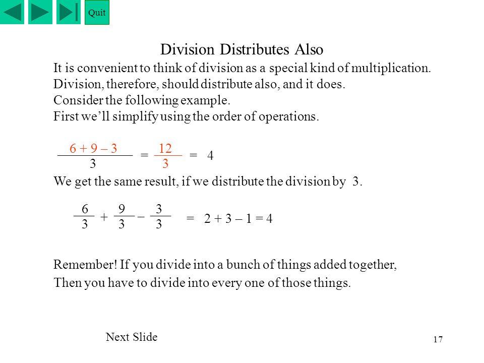 Division Distributes Also