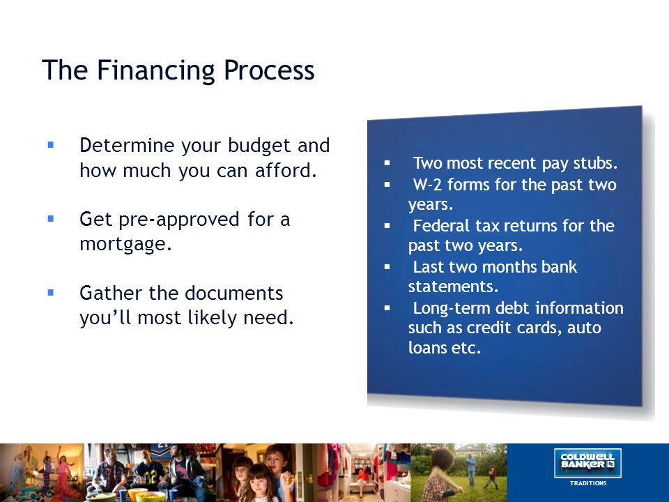 Getting Approved A lender will check your credit to see if you're a good candidate for a loan.