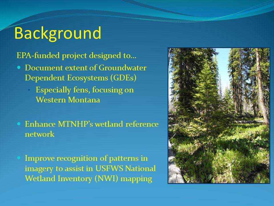Background EPA-funded project designed to…