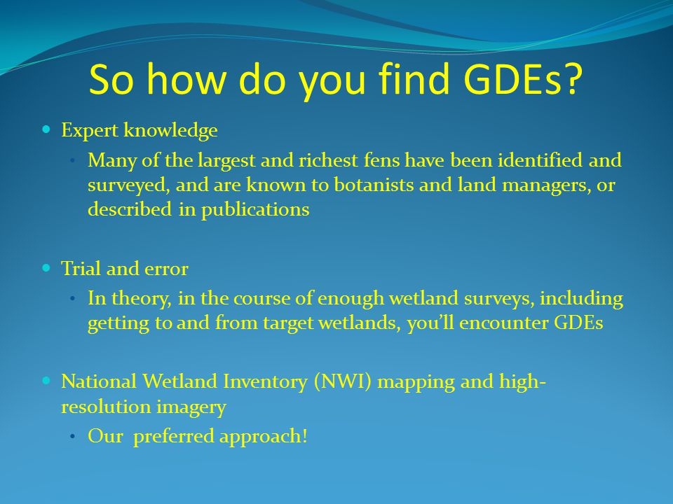 So how do you find GDEs Expert knowledge
