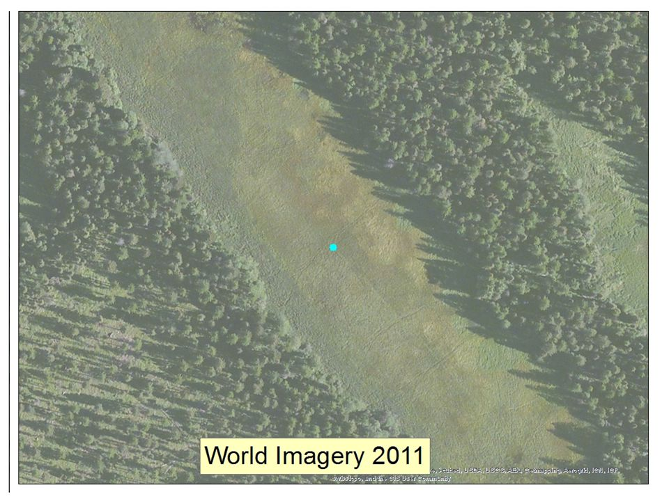 This is the large wetland in the center of the red circle