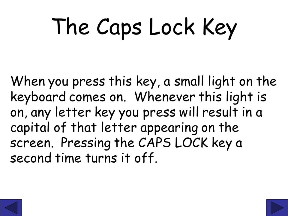 The Caps Lock Key
