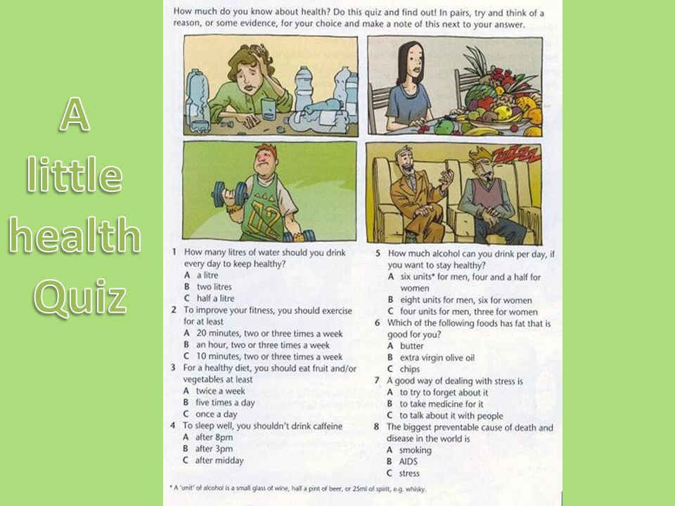 A little health Quiz