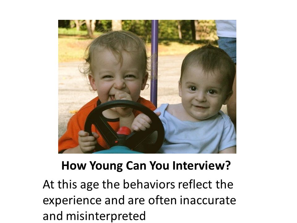 How Young Can You Interview