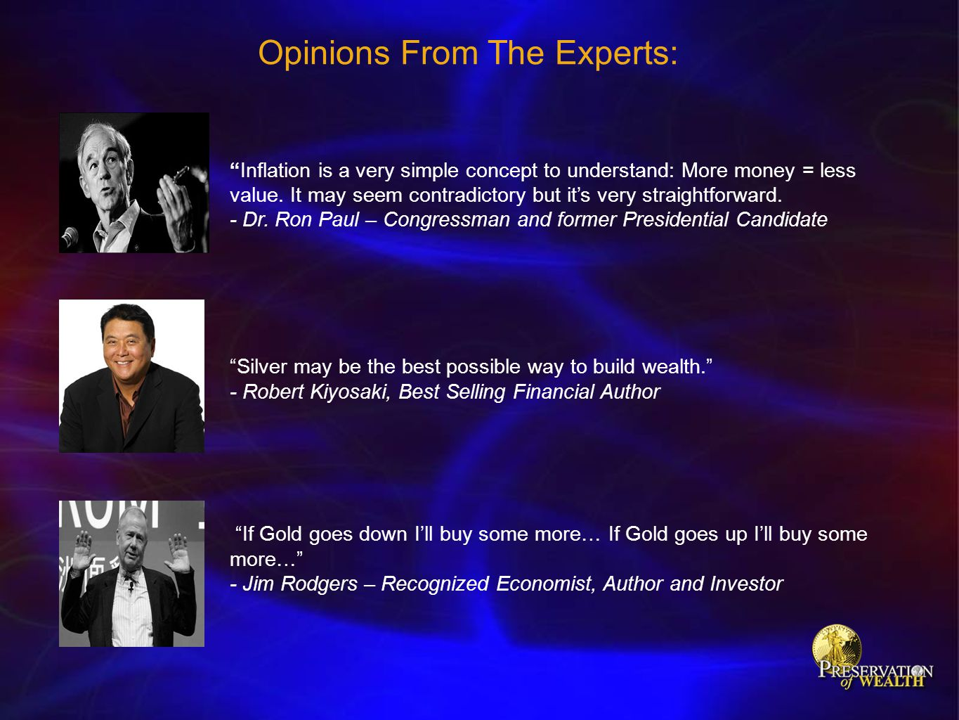 Opinions From The Experts: