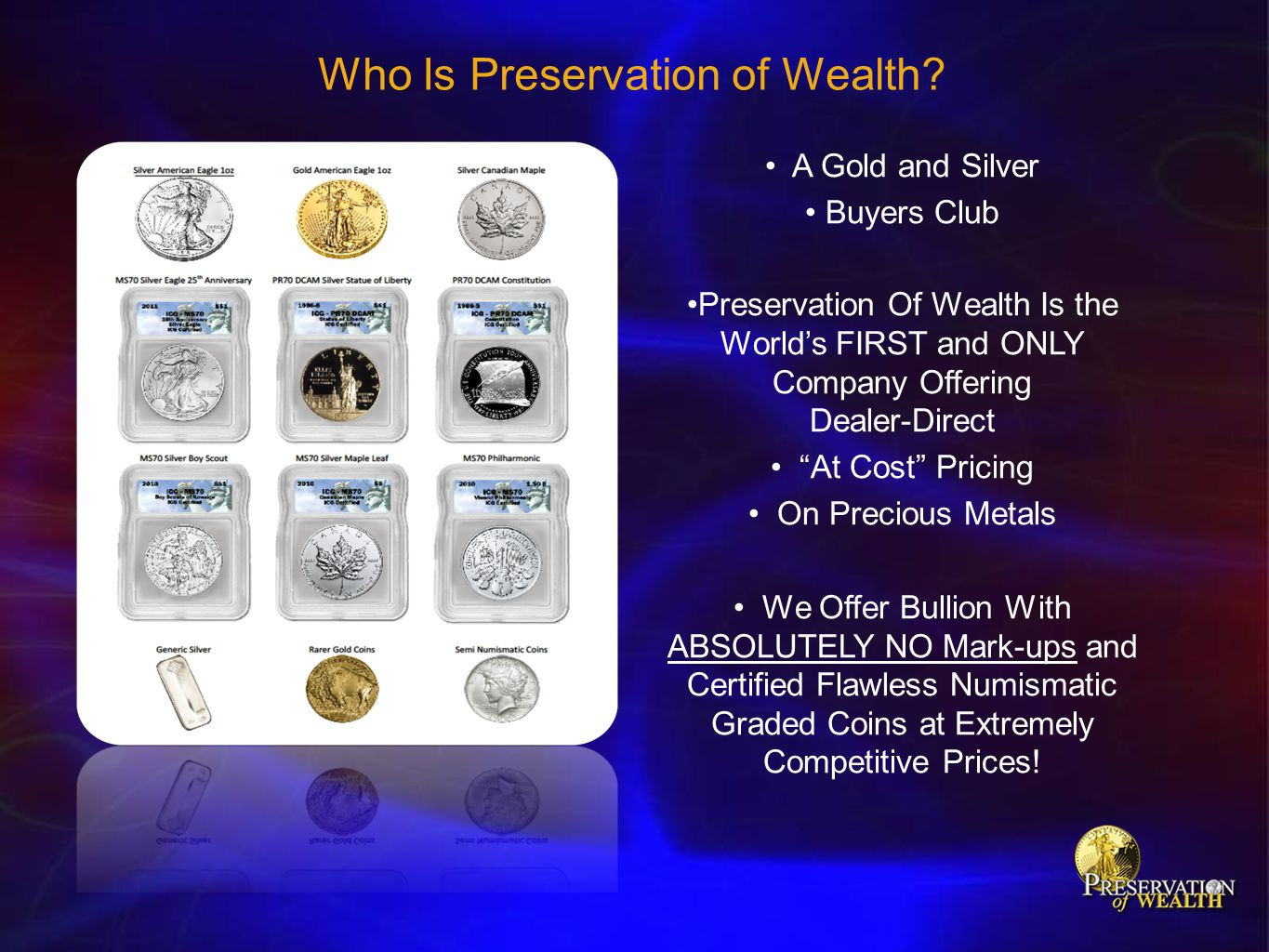 Who Is Preservation of Wealth