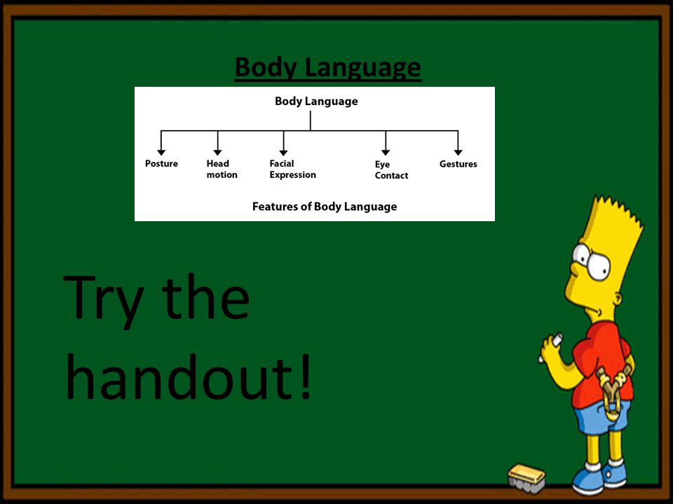 Body Language Try the handout!