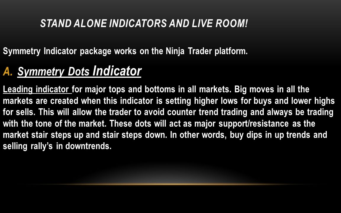 Stand alone indicators and live room!