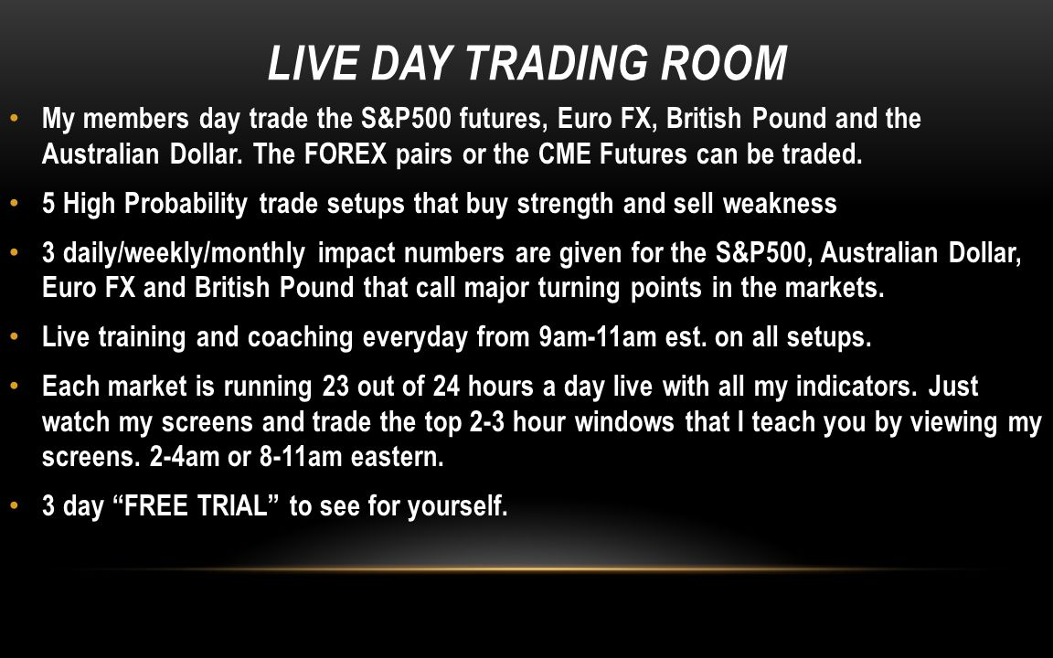 LIVE DAY TRADING ROOM
