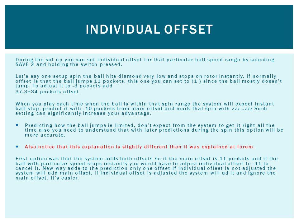 Individual offset