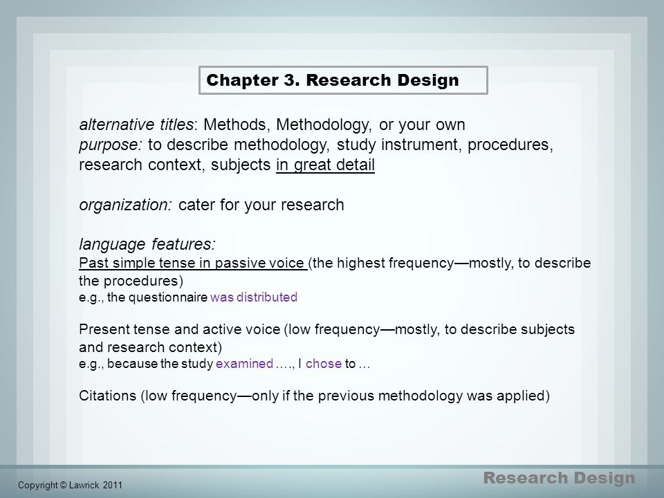 Chapter 3. Research Design