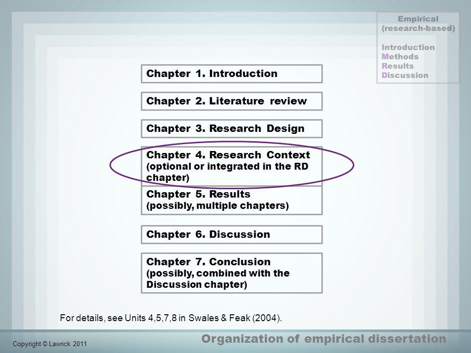Organization of empirical dissertation