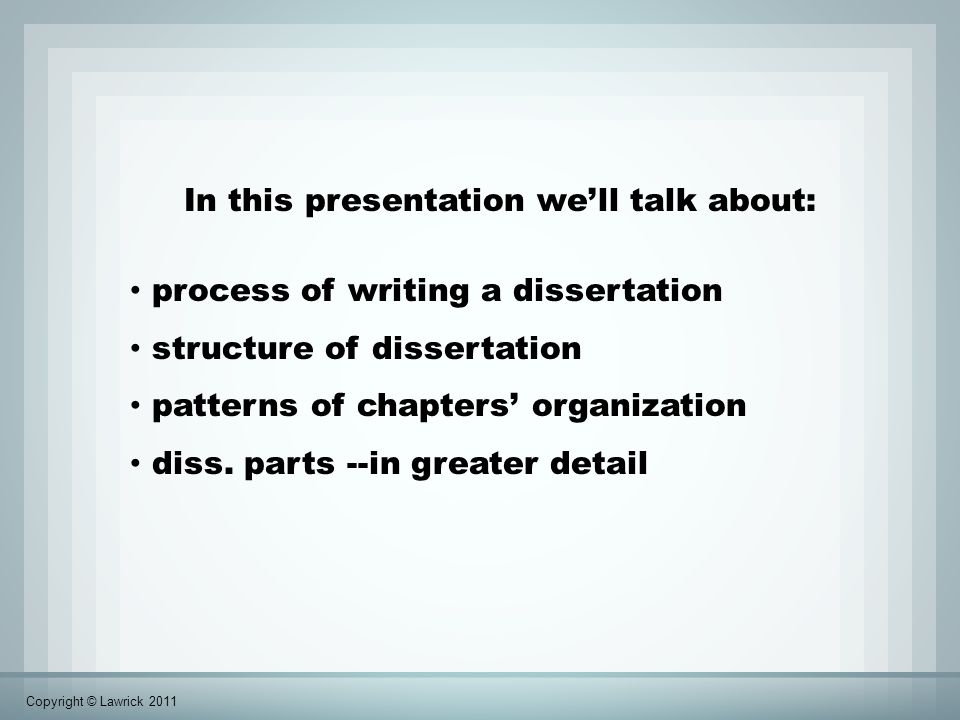 parts of a thesis dissertation Chapter 3: quantitative master's thesis section 33: quantitative thesis chapters the first part of the introduction should clearly state the purpose of the study.