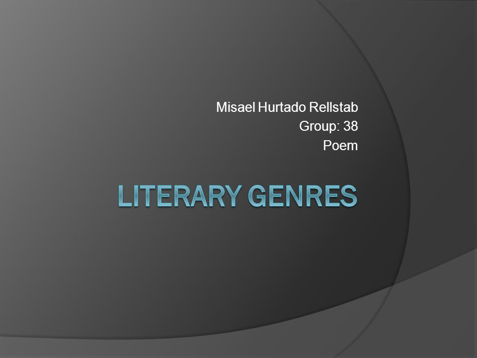 Misael Hurtado Rellstab Group: 38 Poem