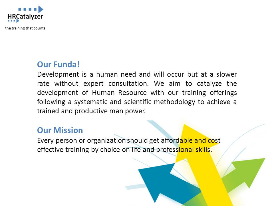 HRCatalyzer the training that counts. Our Funda!