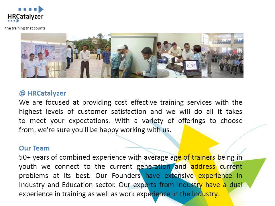 HRCatalyzer the training that counts. @ HRCatalyzer.
