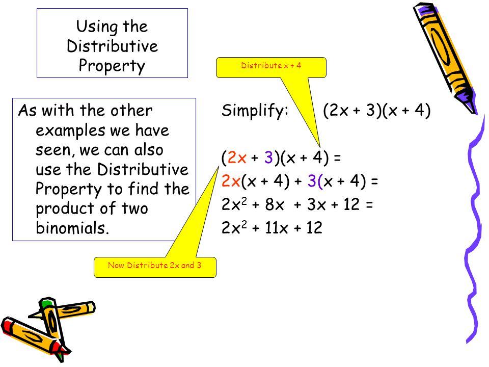 Using the Distributive Property